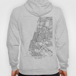 Tel Aviv Map White Hoody
