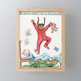 The Monster Under the Bed Framed Mini Art Print