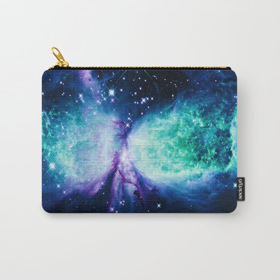 Space Galaxy : A Star is BORN Violet Mint Green Blue Carry-All Pouch