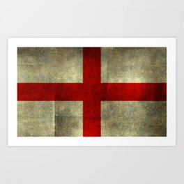 Flag of England (St. George's Cross) - Textured version to scale  Art Print
