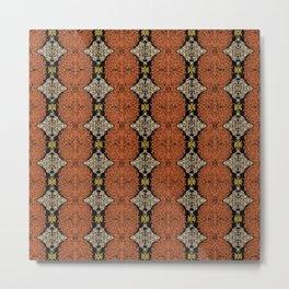 Brahma Play - (Rust - Ceylon Yellow - Almond Buff) Metal Print