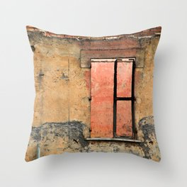Ruin with Pink Window Throw Pillow