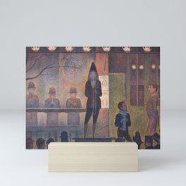 Circus Sideshow by Georges Seurat, 1887 Mini Art Print