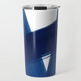 Indigo Abstract Brush Strokes | No. 4 Travel Mug