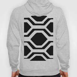Black and White Geometric Hoody