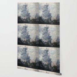 barren tree in the fog Wallpaper
