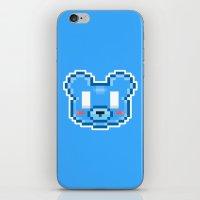 8bit iPhone & iPod Skins featuring 8Bit Kawaiikuma by Bear Picnic