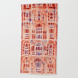 Hawa Mahal – Palace of the Winds in Jaipur, India Beach Towel