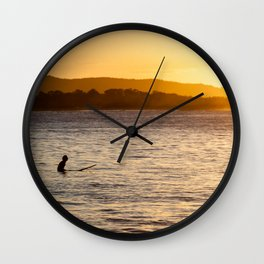 Sunset Surf Wall Clock