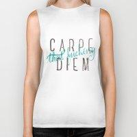 carpe diem Biker Tanks featuring Carpe Diem by martingarri