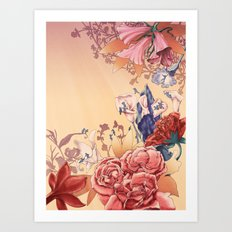 The flowers Art Print