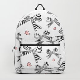 Pink bow heart Backpack