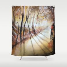 Break in the clouds - watercolor Shower Curtain