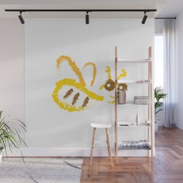 Funny bee Wall Mural