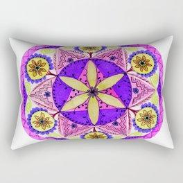 Crystaline Nature Mandala Rectangular Pillow