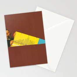 Yellow Chart Stationery Cards