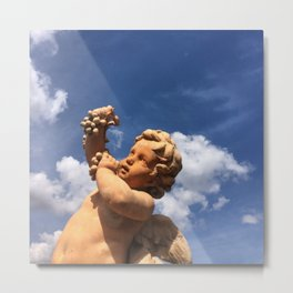 Cherub Statue at Biltmore Estate Metal Print