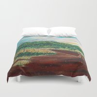 country Duvet Covers featuring Country by Art by Risa Oram