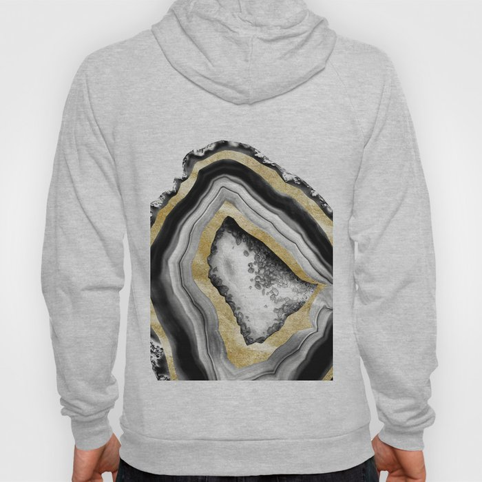 Agate Gold Foil Glam #1 #gem #decor #art #society6 Hoody
