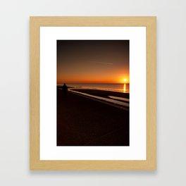 Sunset Stroll  Framed Art Print