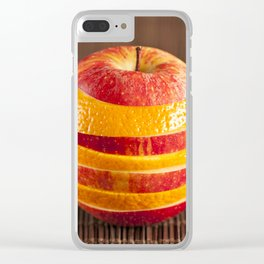 Mixed orange and apple Clear iPhone Case