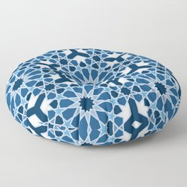Lace Classic Blue classic islamic pattern Floor Pillow