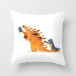 BOOK DINOSAURS 02 Throw Pillow