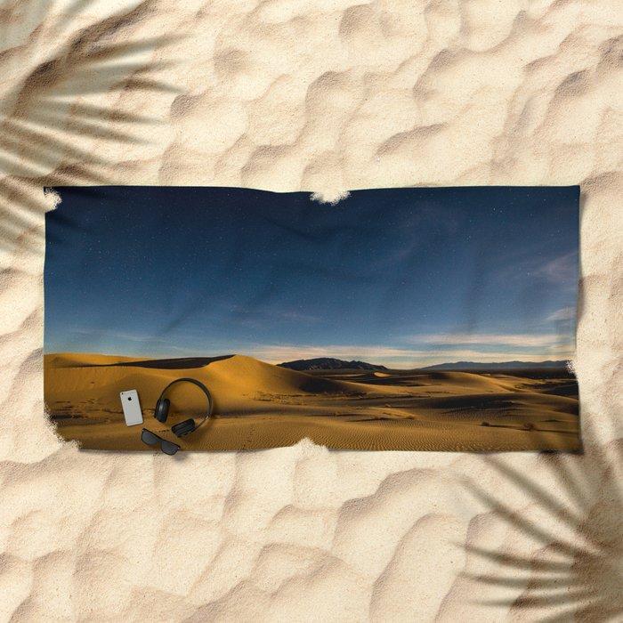Sand Dunes & Night Sky Beach Towel