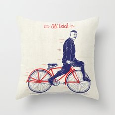 Old Style Trick Throw Pillow