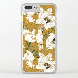 White tropical bird Clear iPhone Case