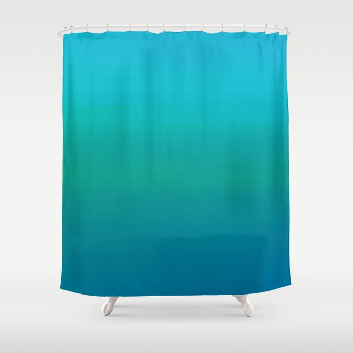 Ombre, Blue to Teal Shower Curtain