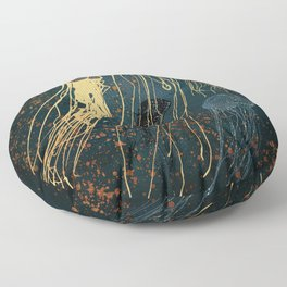 Metallic Jellyfish Floor Pillow