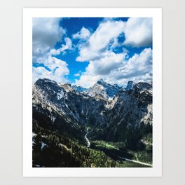 Overcoming Mountains Art Print