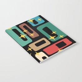 Retro Mid Century Modern Abstract Pattern 223 Notebook