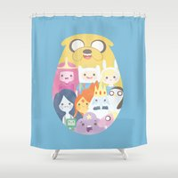 adventure Shower Curtains featuring Adventure by Eva Puyal