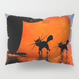 let's go and look for mice - mooncats Pillow Sham