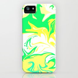 The hurricane, abstract color storm in green, white and yellow iPhone Case