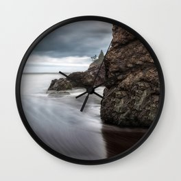 Storms Gather Wall Clock