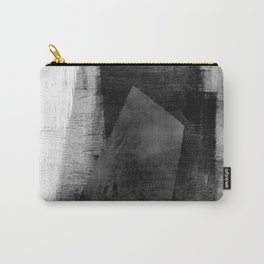 Black White Grey Geomteric Abstract Carry-All Pouch