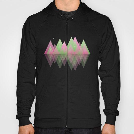 Spring Geometric Mountain  Hoody