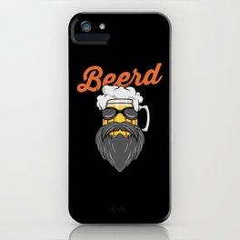 Beer And Beard Wordplay - Hipster Beer Mug iPhone Case