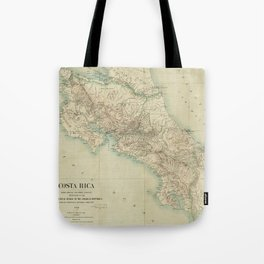 Vintage Map of Costa Rica (1903) Tote Bag