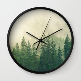 Foggy Forest Wall Clock