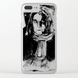 When the bread is thrown into the trash but you were out of cheese anyway Clear iPhone Case