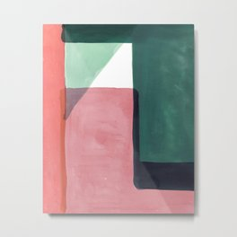 Tetra in Green and Pink Metal Print