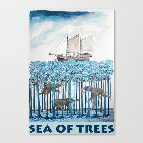 Sea of Trees Canvas Print