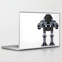 ed sheeran Laptop & iPad Skins featuring ED 209 by Alex Wolf