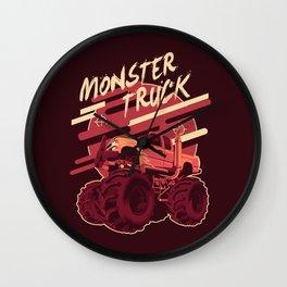 Monster Truck Illustration Wall Clock