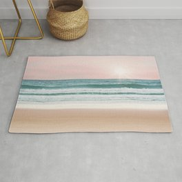 Pastel Beach and Sea Vibes Rug