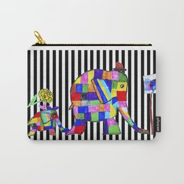 Elephant Festival |Family Walk | #society6 Carry-All Pouch